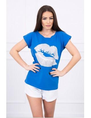 Tričko pusa modré