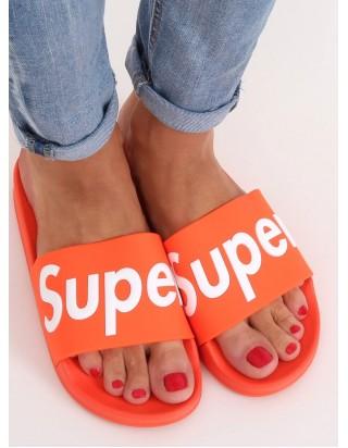 Oranžové šľapky SUPER