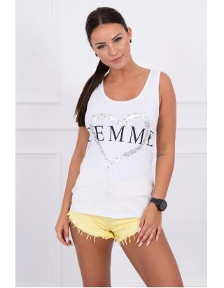 Tielko biele FEMME