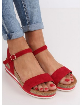 Nízke červené sandále