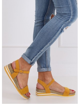 Nízke horčicové sandále