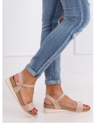 Nízke béžové sandále