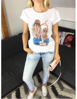 Biele letné tričko Mama