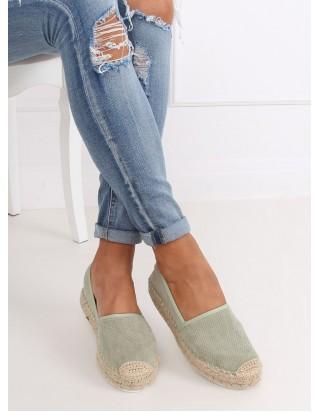 Zelené plátené topánky