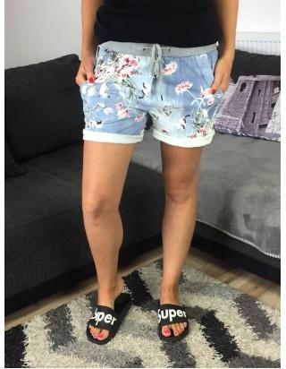Krátke nohavice nad kolená modré