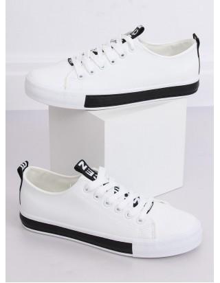 Dámske bielo-čierne tenisky