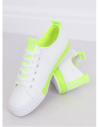 Dámske bielo-zelené tenisky
