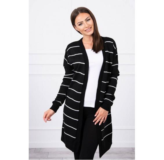 Pásikavý sveter čierny