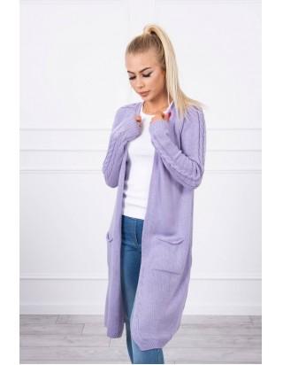 Dlhý fialový sveter