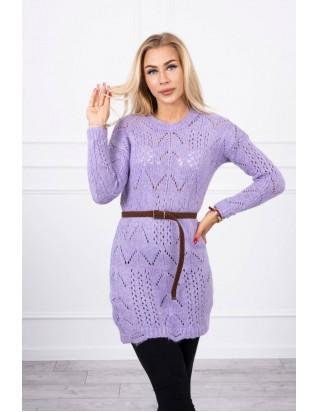 Fialový sveter s opaskom