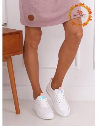 Moderné tenisky bielo ružové