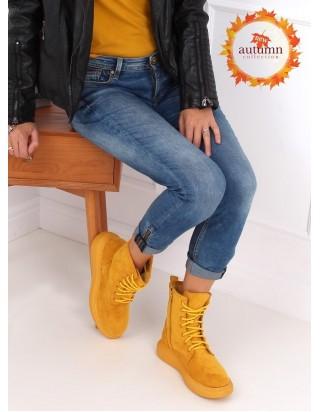 Vysoké topánky horčicové