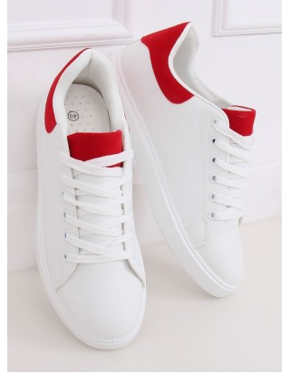 Bieločervené tenisky