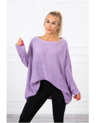 Oversize sveter fialový