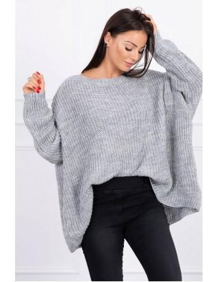 Oversize sveter sivý
