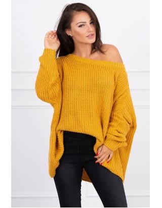 Oversize sveter horčicový