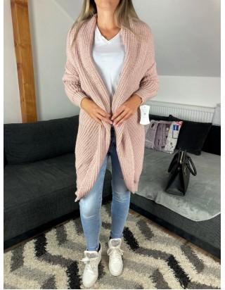 Jesenný dámsky sveter ružový