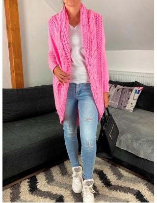 Dámsky pletený sveter ružový