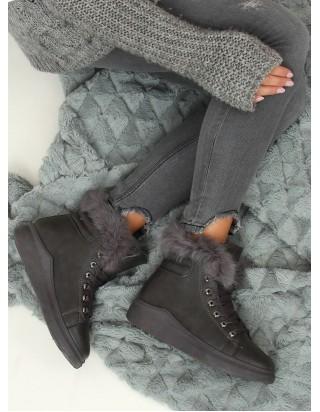 Teplé šedé topánky