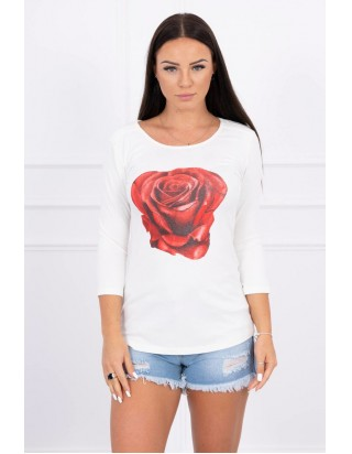 Tričko ruža biele