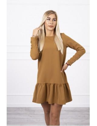 Hnedé jesenné šaty