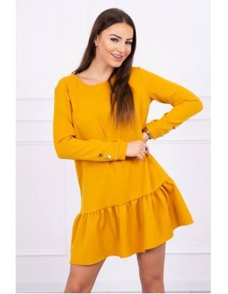 Horčicové jesenné šaty