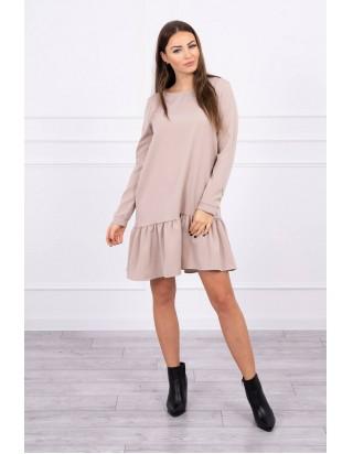 Béžové jesenné šaty