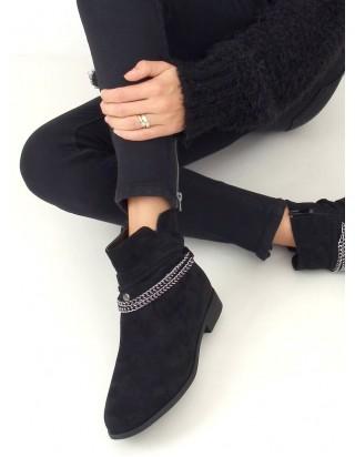 Nízke čierne čižmy
