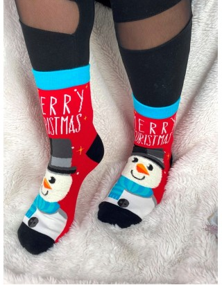Skvelé vianočné ponožky Snehuliak