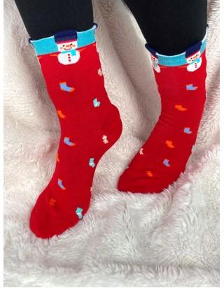 Vianočné ponožky snehuliačik