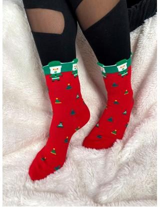 Vianočné ponožky škriatok