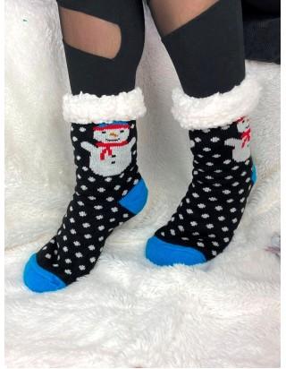 Vianočné ponožky Snehuliak