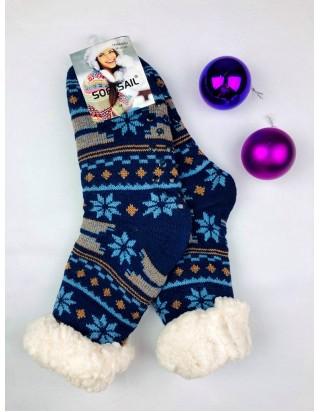 Vianočné ponožky hrubé