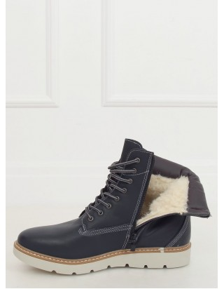 Teplé tmavomodré topánky na šnurovanie