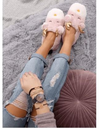 Ružové dámske papučky Sobíky