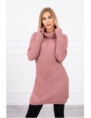 Dlhý sveter s golierom staroružový