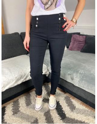 Nohavice s vysokým sedom čierne