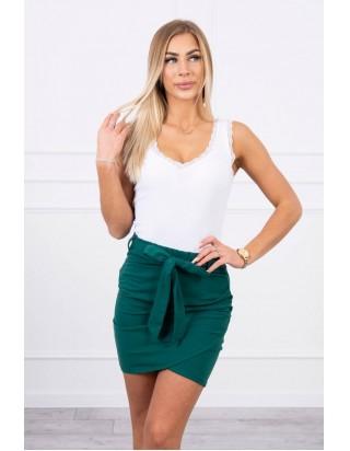 Sukňa s mašľou zelená