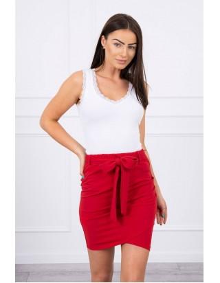 Sukňa s mašľou červená