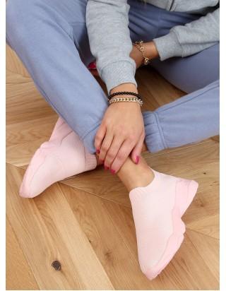 Ružové tenisky bez šnúrok