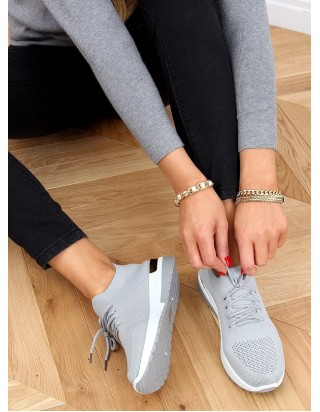Ľahké a pohodlné sivé tenisky