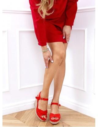 Dámske červené sandále