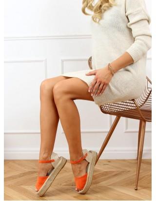 Oranžové sandále s otvorenou špičkou