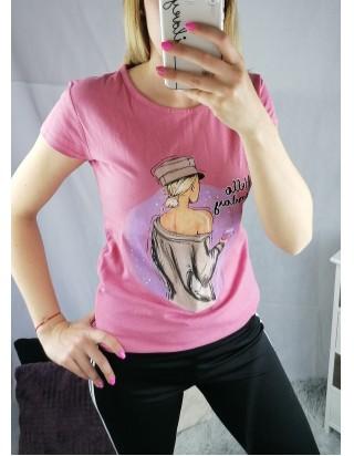 Ružové tričko HELLO MONDAY