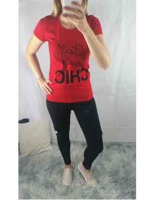 Červené tričko CHIC