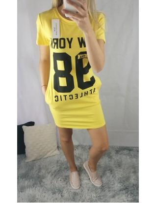Žlté šaty/tunika 98