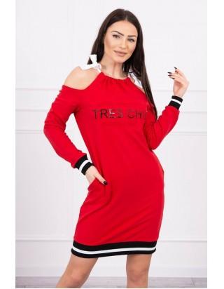 Červené šaty CHIC