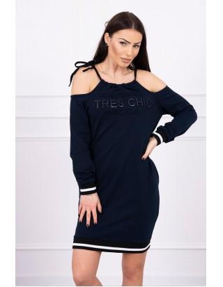 Tmavomodré šaty CHIC