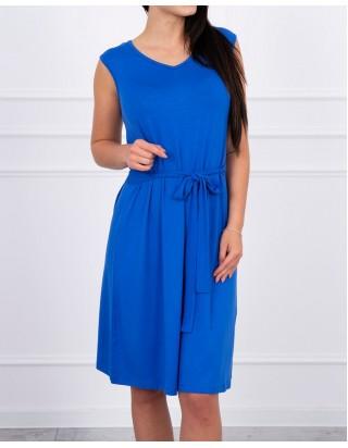 Šaty s mašľou modré
