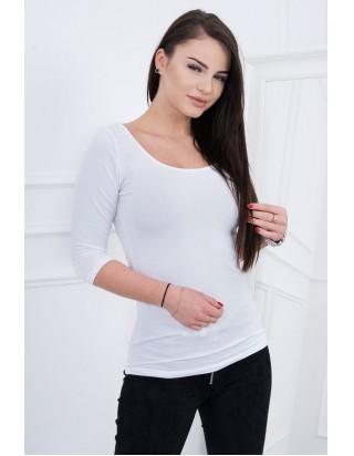 Štýlové jednofarebné tričko biele